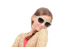 Портрет ребенка девушки С солнечными очками Стоковое Изображение