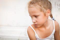портрет ребенка унылый стоковые фотографии rf