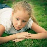портрет ребенка унылый стоковая фотография rf