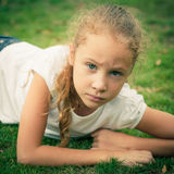 портрет ребенка унылый стоковое изображение