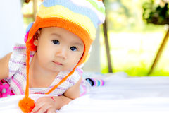 Портрет ребёнка младенца милый Стоковая Фотография