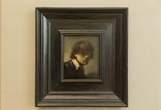 Портрет Рембрандта автоматический в Alte Pinakothek - Мюнхене, Германии Стоковое Изображение RF