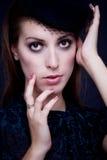 Портрет ретро обольстительной женщины Стоковое фото RF