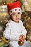 Портрет рождества маленького ребенка стоковые изображения