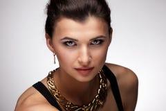 Портрет роскошной женщины Стоковое фото RF