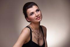Портрет роскошной женщины Стоковые Изображения RF