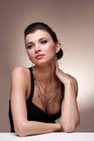 Портрет роскошной женщины Стоковое Фото