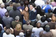 Портрет рук повышения пар Стоковая Фотография