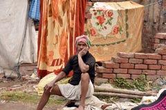 Портрет рыболова Kolkata стоковые изображения rf