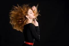 Портрет рыжеволосой девушки стоковое изображение rf