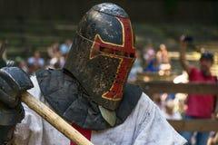 Портрет рыцаря во время поединка стоковые фотографии rf
