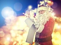 Портрет Санта Клауса Стоковое фото RF