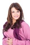 Портрет свежей и симпатичной женщины Стоковое Фото