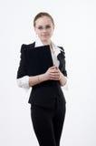 портрет светлого тонового изображения девушки скоросшивателя стоковые фотографии rf