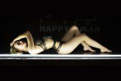 Портрет сексуальной девушки в нижнем белье Стоковая Фотография