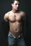 Портрет сексуальной мыжской модели Стоковое фото RF