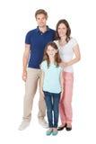 Портрет семьи в вскользь стоковое изображение rf