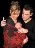 портрет семьи младенца Стоковая Фотография