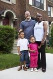 портрет семьи напольный Стоковые Фото