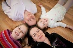 Портрет семьи от выше Стоковые Фотографии RF