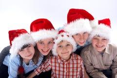 портрет семьи рождества стоковые изображения rf