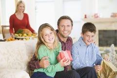 портрет семьи рождества Стоковые Изображения