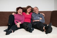 портрет семьи счастливый домашний Стоковое Фото