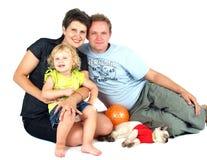 портрет семьи счастливый Стоковое Фото