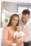 портрет семьи счастливый стоковое изображение