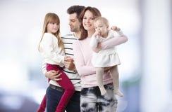 портрет семьи счастливый Стоковые Изображения RF