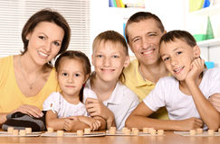 портрет семьи счастливый Стоковые Фото