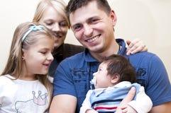 портрет семьи Стоковая Фотография
