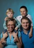 портрет семьи стоковые изображения