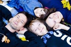 Портрет семьи стоковое изображение rf