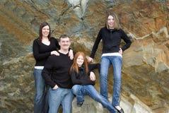 портрет семьи 4 Стоковые Фотографии RF