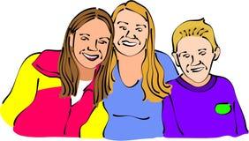портрет семьи иллюстрация вектора