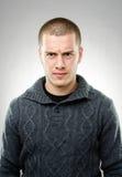 Портрет сердитого человека Стоковая Фотография