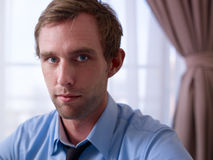 Портрет серьезного менеджера смотря камеру Стоковые Фото