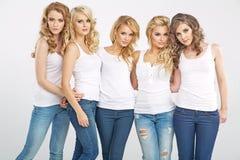 Портрет серьезных привлекательных женщин Стоковое Фото