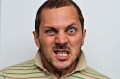 Портрет сердитого человека Стоковые Изображения