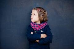 Портрет сердитой девушки preschooler Стоковые Фото
