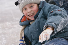 портрет снежный Стоковые Изображения