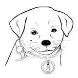 портрет собаки иллюстрация вектора