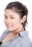 портрет содружественной девушки индийский толстенький Стоковые Фотографии RF