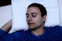 Портрет спать человека стоковые изображения rf