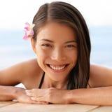 Портрет спа-курорта женщины смотря камеру Стоковое Изображение