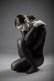 Портрет спортивной женщины стоковое изображение