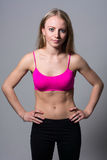 Портрет спортсменов красивых девушки Стоковые Изображения RF