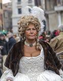 Портрет средневековой дамы Стоковые Изображения
