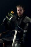 Портрет старого рыцаря Стоковая Фотография